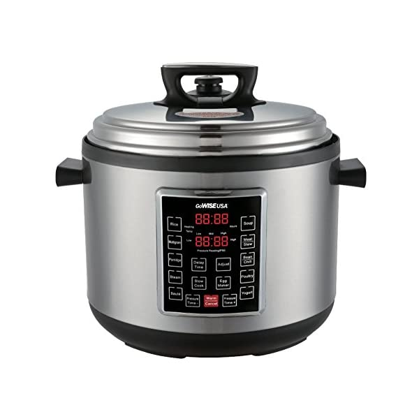 GoWISE USA GW22637 4th-Generation Electric Pressure Cooker with rice scooper, and measuring cup, 14 QT 1
