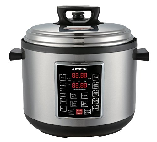 GoWISE USA 12-Quart XL Programmable 10-in-1 Electric Pressure Cooker/Slow Cooker, GW22636 by GoWISE USA