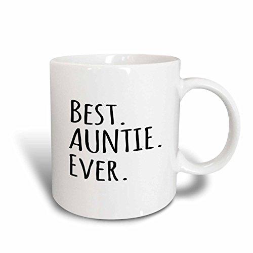 3dRose 151475_5 Best Auntie Ever Mug, 11 oz, Black