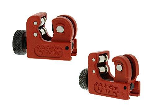 (ABN   Mini Tube Cutter – 2 PK Tubing Cutter Close Quarter Copper Pipe Cutter Tool PVC Cutters – Up To 7/8 Inch Pipe)