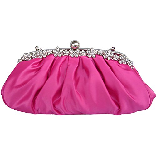YYW Evening Bag - Cartera de mano para mujer bright rosy red
