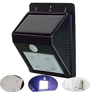 BEAUTS 4-LED Solar PIR Montion Sensor Light Wall Mount Outdoor Garden Door Gate Lamp