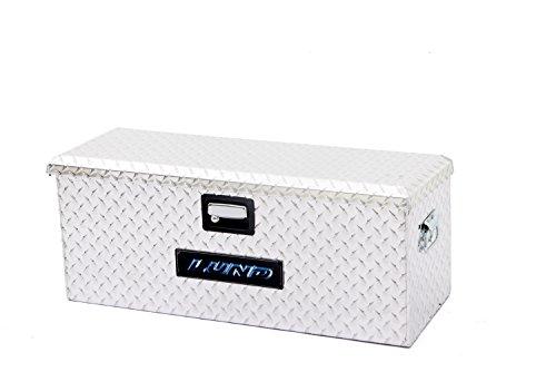 Lund 288271A 32-Inch Aluminum ATV Storage Box, Diamond Plated, Silver (Protection Brite Bed)