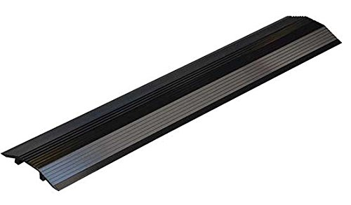 Cable Ramp - BWR Series; Overall (W x H): 7-1/8'' x 1-1/8''; Length: 36''; Usable Span (W x H): 2-5/8'' x 3/4''; Single Wheel Capacity (LBS): 10,000; Finish: Black