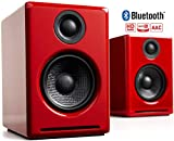 Audioengine A2+ Wireless 60W Powered Desktop Speakers   Built-in 24Bit DAC & Amplifier   Bluetooth aptX Codec, Direct USB Connection, 3.5mm and RCA Phono inputs   Cables Included