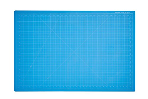 "Dahle Vantage 10693 Self-Healing Cutting Mat, 24""x36"", 1/2"" Grid, 5 Layers for Max Healing, Perfect for Cropping, Sewing, & Crafts, Blue"