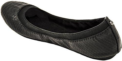 Bandolino Damen Edition Leder Ballett Flat Schwarzes Reptil