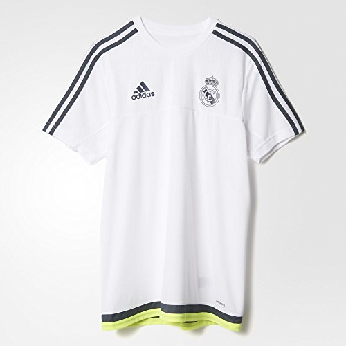 adidas Mens Real Madrid Replica FC Training Jersey White Deepest  Space Solar Yellow S88957 f01cb732e129d