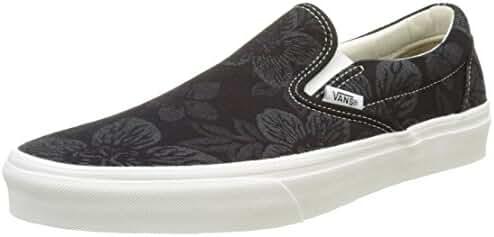 Vans Men's Floral Jacquard Classic Slip-On Trainers, Black, 12 US