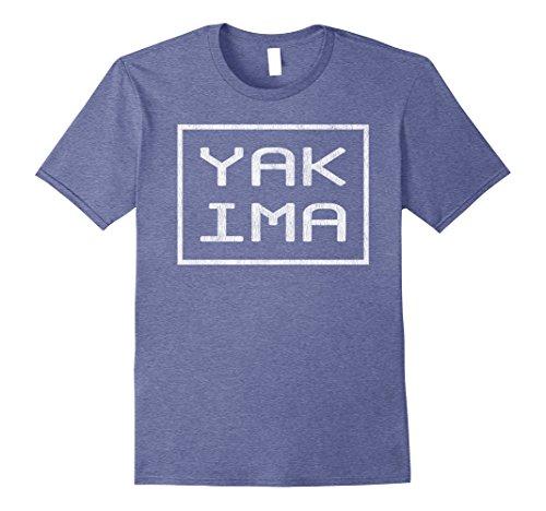 Mens The Original Modern Retro Yakima T Shirt Gift Tee Large Heather Blue (Heather Yakima)
