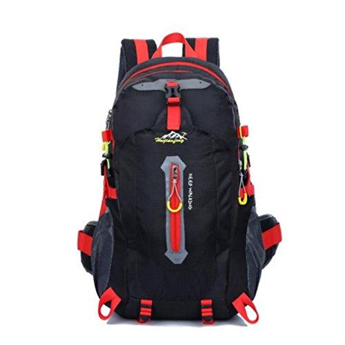 2a6695174912 Vibola 40L Men Women Outdoor Backpack Military Tactical Backpack Waterproof  Nylon Trekking Sport Travel Rucksacks Camping Hiking Trekking Bag (Black)
