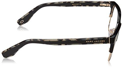 Noir Montura Jacobs Large Marc Marbré Hombre Gafas Brillant De Para Gris Negro 104A4