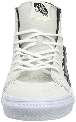 black Baskets Adulte Basses Weave Blanc italian White Cassé Sk8 Vans hi Mixte 61EqP