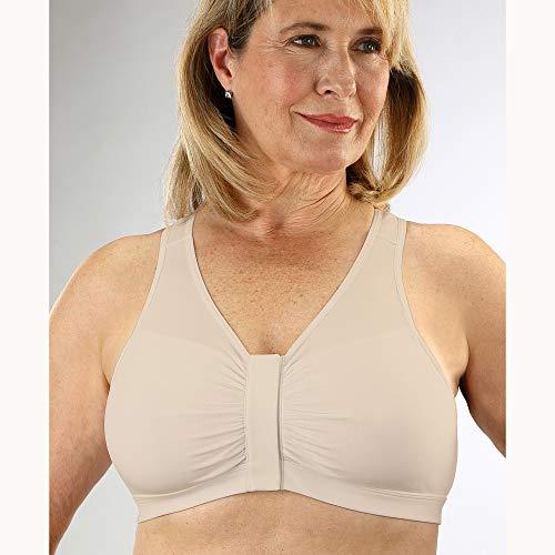 Classique Post - Classique Post Mastectomy Front Closure Wide Strap Fashion Bra XX-Large Beige