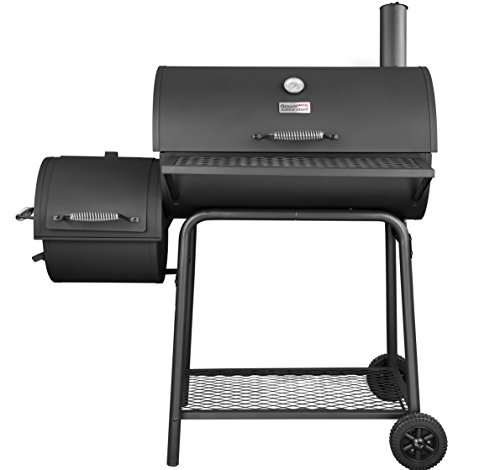 Royal Gourmet BBQ Charcoal Grill with Offset Smoker, 30'' L, New Process Paint Not Flake by Royal Gourmet