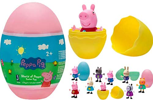 Peppa Pig World of Peppa Surprise Easter Egg Set of 2 - Colors and Styles Vary (2 Surprise Figures)