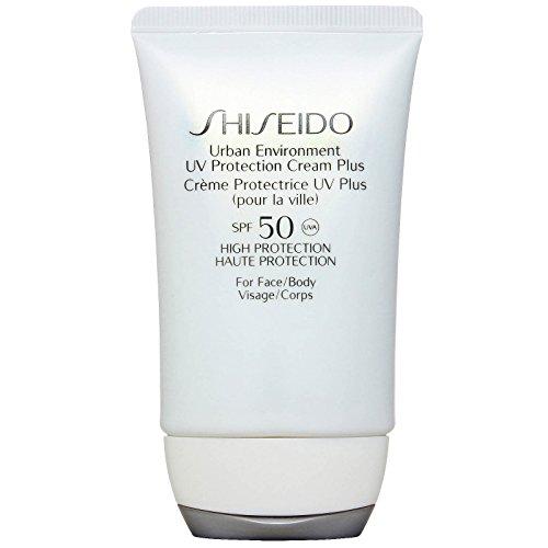 - Shiseido Urban Environment Uv Protection Face and Body Cream for Unisex SPF 50, 1.8 Ounce
