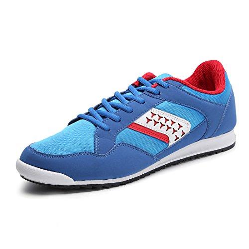 Hawkwell Herren leichte Bequeme Fashion Sneaker Blau