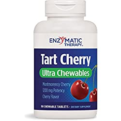 Enzymatic Therapy Tart Cherry Ultra Chewable Tablets, 90 Count