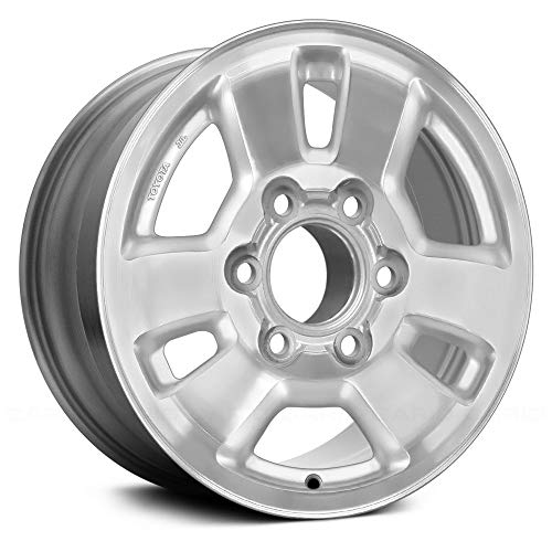 (Replacement 6 Spokes Machined and Silver Factory Alloy Wheel Fits Toyota 4Runner)