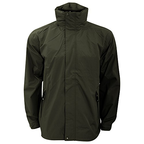 Trespass Mens Boncarbo Hooded Waterproof And Windproof Jacket (XL) (Khaki)