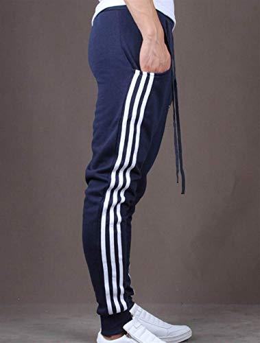 Uomo Sporthose Slim Dunkelblau Esterno Da Pantaloni Elastici Con Battercake Fit Comodo Jogging UtH4wnqv
