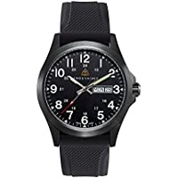 Trouvaille Watches Officer - Military/Field Swiss Made Watch - Rubber Strap