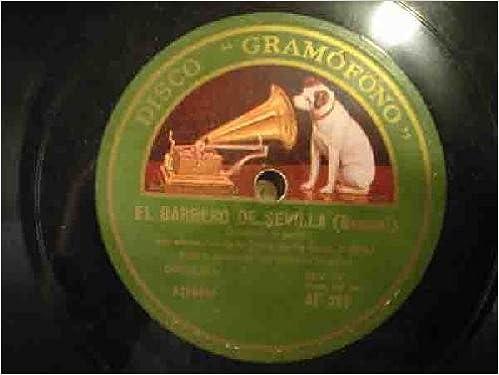 Antiguos discos pizarra - Old slate - EL BARBERO DE SEVILLA ...