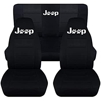 2000 Jeep Wrangler Seat Covers >> Amazon.com: Fits 1997 to 2002 Jeep Wrangler TJ Jeep Paw Prints Seat Covers 22 Color Options ...
