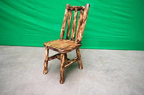 Midwest Log Furniture - Torched Cedar Log Chair