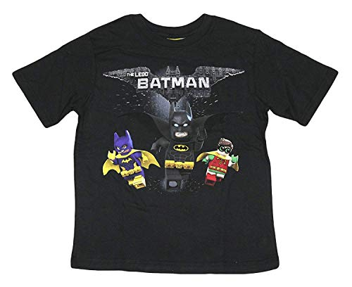 DC Comics Boys Lego Batman T-Shirt (Black Team, Large)]()