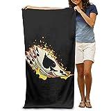 Super Absorbent Beach Towel Burning Poker Polyester Velvet Beach Towels 31.551.2 Inch