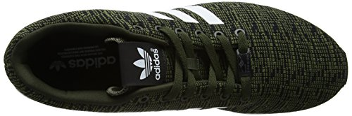 adidas Zx Flux, Zapatillas para Hombre, Negro Verde (Night Cargo/footwear White/core Black)