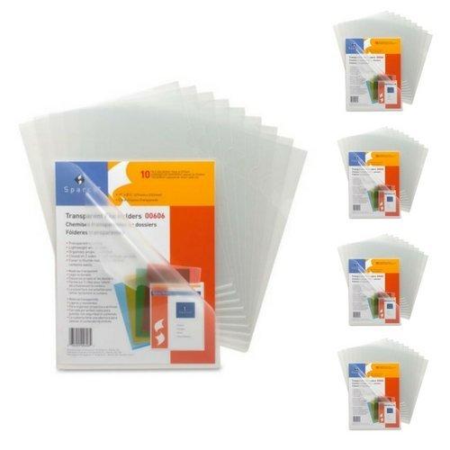 Sparco Transparent File Holder - Letter - 8.50