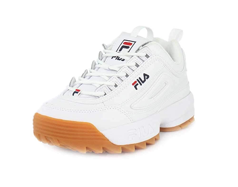 White Fila Navy Gum Fila Women's Disruptor II Premium Sneakers