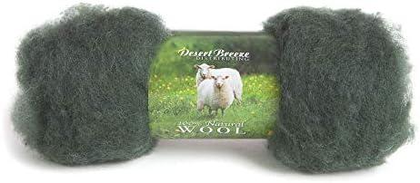 Sold per 1 oz. Needle Felting Maori Wool Batt  FB1 Snow Drift Maori Wool Fluffy Batt