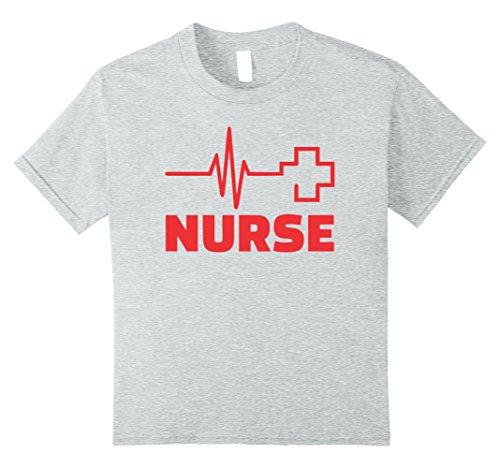 Kids Nurse Costume T-Shirt- Easy Halloween Costume 2017 8 Heather Grey ()