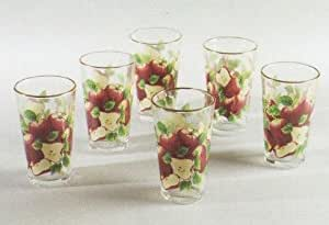 APPLE 16oz. Tumblers Glass Set of 6 Glasses *NEW!*