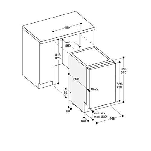 Gaggenau lavavajilla Slim Totalmente integrado DF 250 141 de 45 cm ...