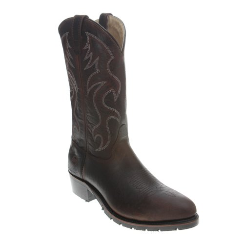 Double-H Boots Men 2282 Western Safety Toe Cowboy Work Boot Light Brown QRWdQtKT