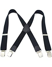 Tinksky Men Dress Suspenders Elastic Fully Adjustable Clip On Suspender, Great for any trousers, jeans, shorts