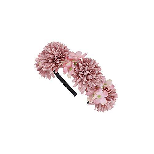 - Women Bezel Flowers Head Girls Flower Crown Wreath Wedding Bridal Hair Accessories Fruit Floral Headband Headwear,8