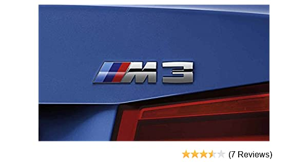 3D Car M3 M5 ABS Rear Trunk Emblem Badge Sticker Decals for BMW 3 5 Series Silver M5