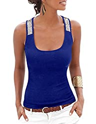Women's Casual Sequin Sleeveless Tops