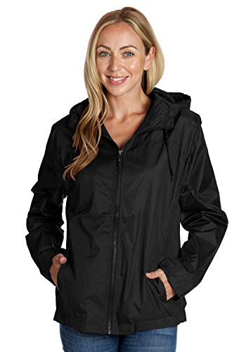 Equipment De Sport USA Black Zip up Jacket Women Yoga Medium Windbreaker with -