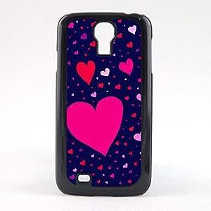 Case Fun Case Fun Purple Hearts Snap-on Hard Back Case Cover for Samsun Galaxy S4 Mini (I9190)
