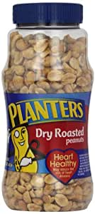 Planters Dry Roasted Peanuts, 16 Ounce (Pack of 2)