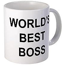 "CafePress - World's Best Boss"" Mug - Unique Coffee Mug, Coffee Cup"