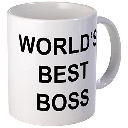 "CafePress - World's Best Boss"" Mug - Unique Coffee Mug, Coffee Cup"