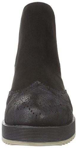 La Strada 903318, Zapatillas de Estar por Casa para Mujer Negro - Schwarz (1401 - Creacked micro black)